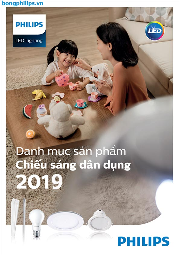 catalogue bang gia bong den led philips 2019