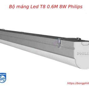 bộ máng đèn Led T8 0.6m 8w BN016C