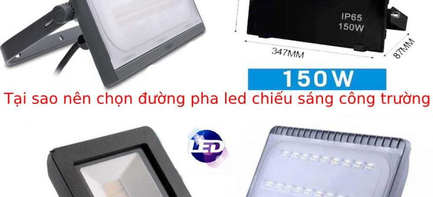 đèn pha led chiếu sáng công trường
