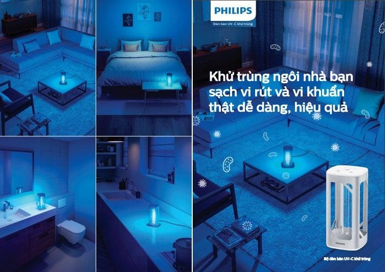 n khử trùng UV C để bàn Philips 1