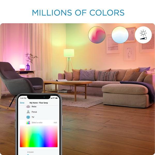 Đèn thông minh Tunable White and Color A60 sử dụng bảng màu sắc 16 triệu màu